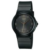 【CASIO】超薄再進化光澤錶面指針錶-黑面(MQ-76-1A)