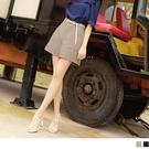 《BA6204-》純色修身後鬆緊口袋寬短褲 OB嚴選