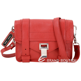 PROENZA SCHOULER PS1 Mini Pouch 銀釦羊皮斜背包(紅色) 1630148-E4