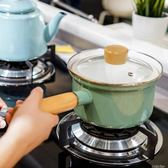 琺瑯鍋肥龍搪瓷琺瑯奶鍋防溢型寶寶輔食鍋單把電磁爐燃氣家用日式煮面鍋  color shop