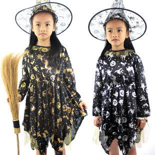 兒童巫婆裙子+巫婆帽
