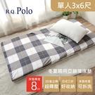 【R.Q.POLO】日式亞藤抗菌三折床墊...