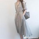 輕熟風洋裝子夏季收腰顯瘦顯高長裙氣質女神范衣服新款女裝