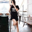 adidas Originals 愛迪達 三葉草 AY8123 黑色 連身裙 洋裝 短袖t桖 連身T桖/澤米