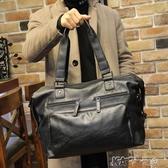 商務包  男士手提包大容量旅游短途商務出差單肩行李包袋皮 卡卡西