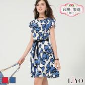 LIYO理優MIT滿版印花修身洋裝E726018