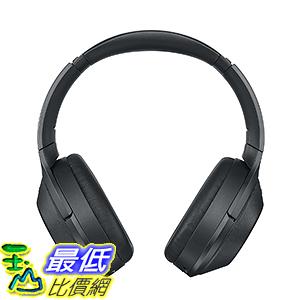 [106美國直購] 耳機 Sony Premium Noise Cancelling, B01KHZ4ZYY Bluetooth Headphone, Black (MDR1000X/B)