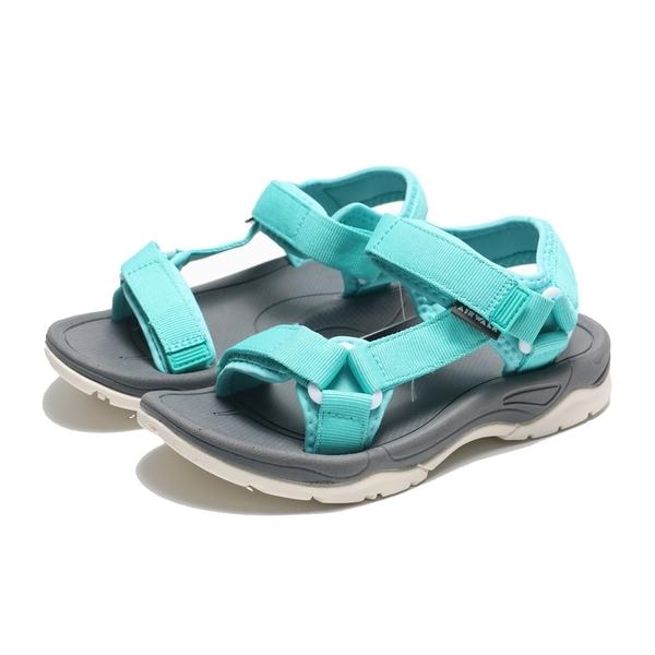 AIRWALK 涼鞋 湖水藍 魔鬼氈 織帶 輕量 減壓 女 (布魯克林) A822230181