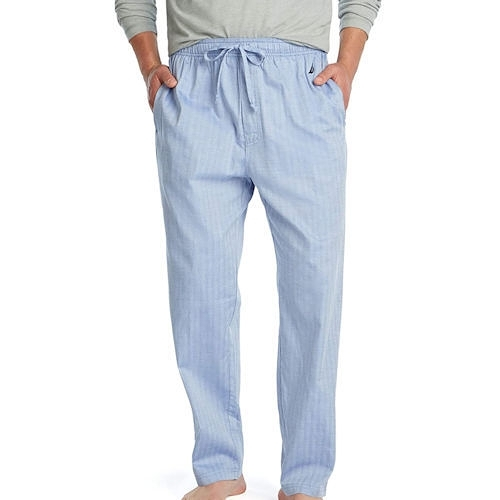Nautica 男格子睡褲(藍色直條紋)