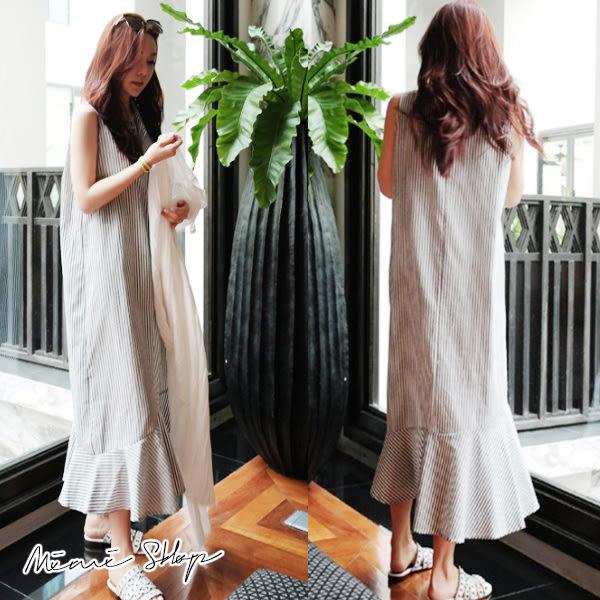 孕婦裝 MIMI別走【P52850】簡單生活 棉麻POLO衫長裙 開扣哺乳衣 連身裙