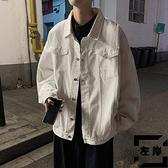 牛仔外套男寬鬆上衣韓版潮流休閒工裝夾克春秋季【左岸男裝】