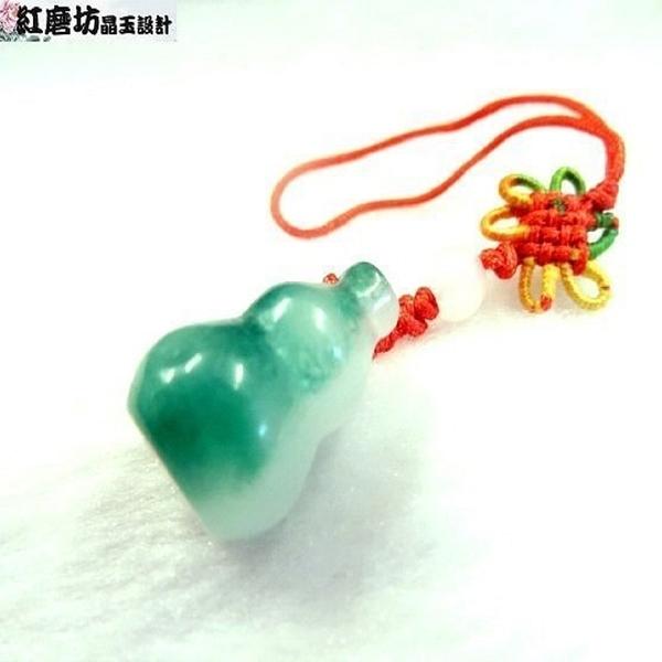 【Ruby工作坊】 NO.164S一件綠玉葫蘆吊飾(加持祈福)