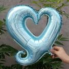 淺藍色30吋(小)勾勾心鋁箔氣球(未充氣)~~求婚道具/婚禮 會場 耶誕節 尾牙佈置/造型氣球