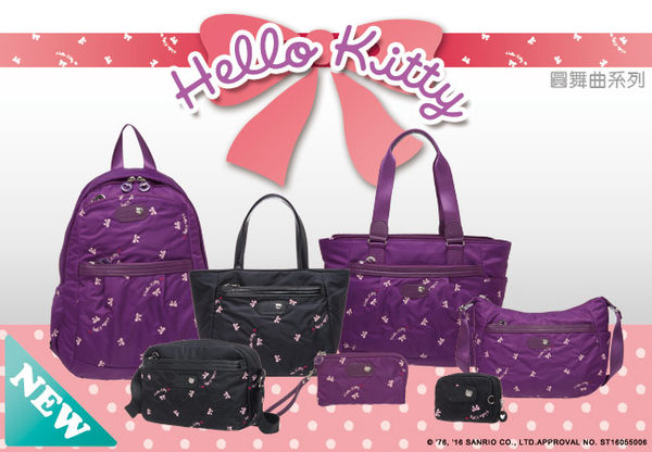 Hello Kitty -  圓舞曲-後背包(黑色)