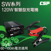 SW系列12V8A充電器(電動摺疊車專用) 鋰鐵電池/鉛酸電池 適用 (120W)
