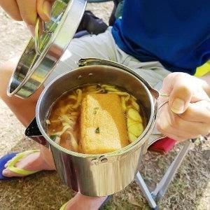 ♥巨安網購♥【107022119】戶外不銹鋼燒水壺1.2L登山野營茶壺