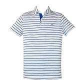 【南紡購物中心】Tommy Hilfiger 經典刺繡標誌男款條紋POLO衫-白
