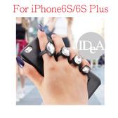 Apple 蘋果iPhone6S/6S Plus 鑽石指環支架 手機殼 硬殼 寶石 防摔 全包手機殼 保護殼 昆凌 同款