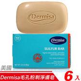 【6入超值組】美國Dermisa毛孔粉刺淨膚皂85g