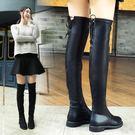 長靴女秋季百搭過膝靴正韓騎士靴粗跟高筒靴彈力長筒靴冬 優樂居生活館