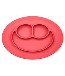里和家居 美國EZPZ Mini Mat快樂防滑餐盤- 珊瑚紅(迷你版) 餐具 盤子