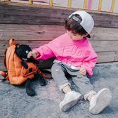 男童春秋薄款長袖套頭連帽T恤純棉小童兒童寬鬆刺繡童裝寶寶上衣【全館免運】