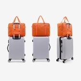 特賣行李包短途旅行包女手提簡約行李包大容量旅行袋輕便防水側背包健身包男