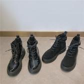 短靴女單靴英倫風靴子女夏季薄款春秋厚底增高機車馬丁靴ins