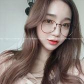 現貨-韓國ulzzang原宿復古金屬眼鏡新款金屬眼鏡框復古百搭平光鏡超輕方框眼鏡架韓版時尚框架眼