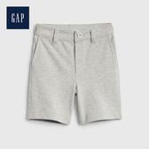Gap 男幼童 簡約風格純色休閒短褲 542351-淺麻灰