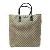 GUCCI 古馳 棕色PVC肩背包 GG Plus Extra Large Tote Bag 131219【BRAND OFF】