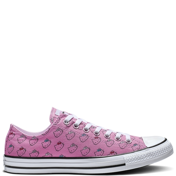 Converse x Hello Kitty Chuck Taylor All Star Low-Top 聯名款 女款粉色休閒鞋-NO.164631C
