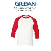 GILDAN 吉爾登斜肩七分袖RAGLAN棒球T 情侶款 想見你 運動