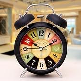 超大聲音小鬧鐘學生用床頭靜音夜光簡約兒童創意時鐘臥室鐘表鬧鈴 夢幻小鎮