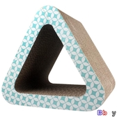 【貝貝】貓玩具 三角形 貓洞 瓦楞紙 貓抓板 貓玩具 貓咪磨爪