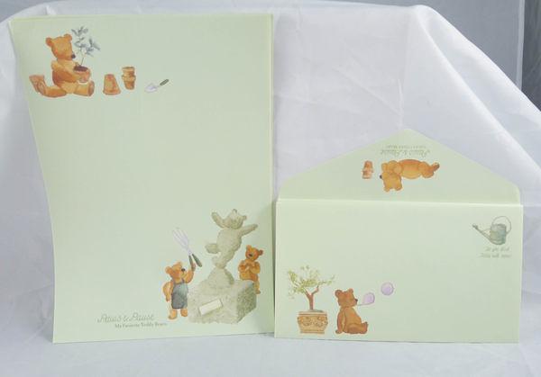 【震撼精品百貨】日本泰迪熊 _Paws Pause 泡泡熊~信紙組『沙作』