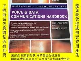 二手書博民逛書店Voice罕見and Data Communications Handbook fifth edition【語音和