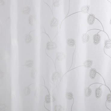 HOLA 朵麗繡花落地窗紗-卡其 270x230cm