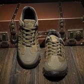 戶外登山鞋軟底實心底防滑徒步鞋輕便旅游鞋防水釣魚鞋春秋季男鞋
