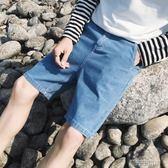牛仔短褲 港風男士夏季新款貼標牛仔短褲休閒褲寬鬆韓版潮流百搭五分褲熱褲 潮先生
