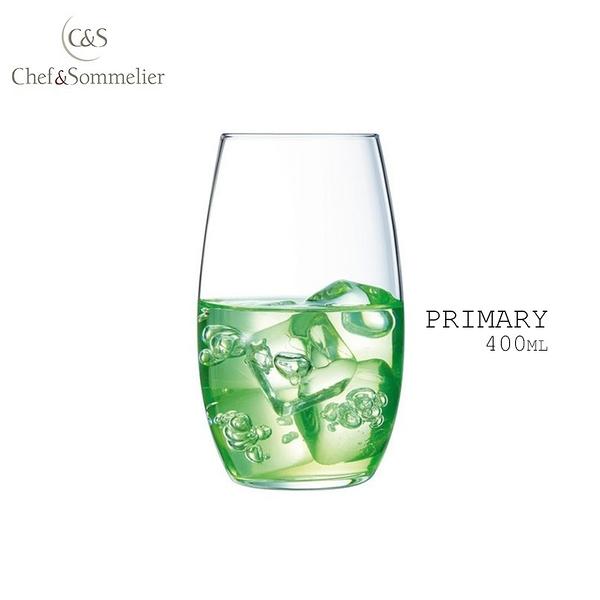 法國Chef & Sommelier PRIMARY玻璃水晶啤酒杯 果汁杯 400ml 水杯 飲料杯 C&S