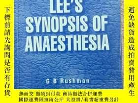 二手書博民逛書店Lee s罕見Synopsis of Anaesthesia 麻