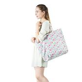 漸變立體印花旅行收納袋 可折疊 整理袋 出差 旅行 單肩 收納包【N372】生活家精品