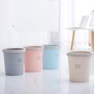 收納桶創意家用宿舍廚房客廳臥室可愛衛生間垃圾桶無蓋帶壓圈  萬客居