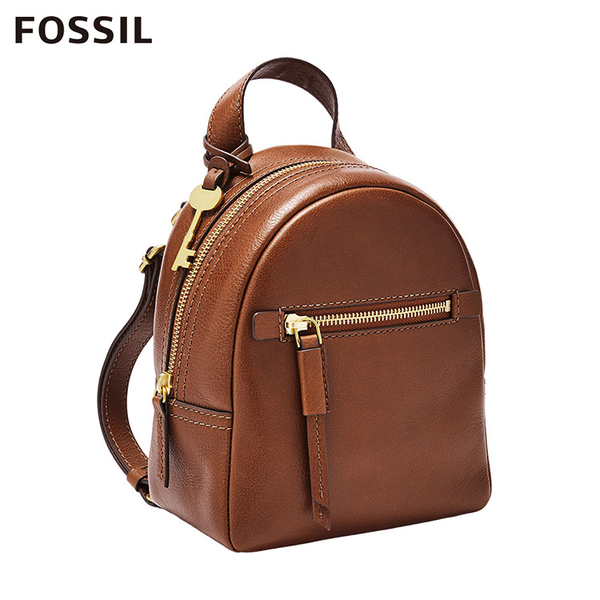 FOSSIL MEGAN 真皮超迷你後背包-咖啡色 ZB7916200