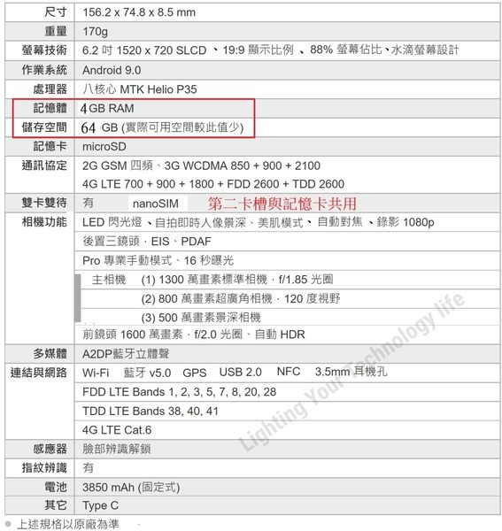 【現貨】HTC Desire 19+ 手機 4G/64G,送 空壓殼+玻璃保護貼,24期0利率