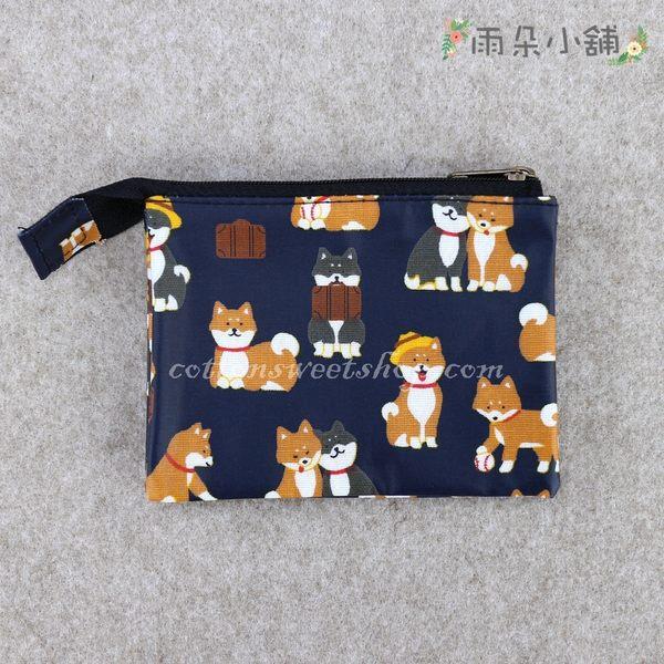 零錢包 包包 防水包 雨朵小舖 M055-810 單拉鍊內雙層零錢包-深藍公事包柴犬13184 funbaobao