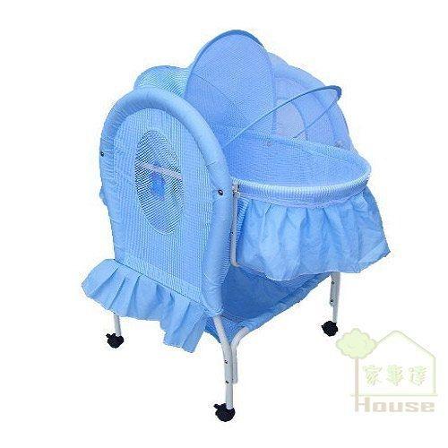 [ 家事達 ]Mother's Love -BC-291 嬰兒平搖提籃嬰兒床--藍色 特價