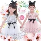 唯美簡約花朵綁帶網紗洋裝小禮服-2色(小花童畢業典禮音樂會)(310534)【水娃娃時尚童裝】