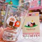 正版 卡娜赫拉的小動物 卡娜 兔兔 P助 玻璃杯 杯子 水杯 乾拜玻璃杯 大飯糰款 COCOS SS280
